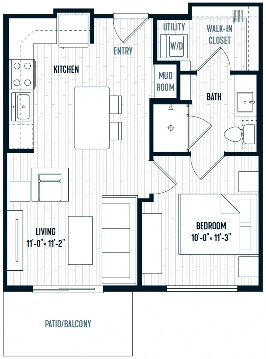 apartments domain austin one bedroom floor plan