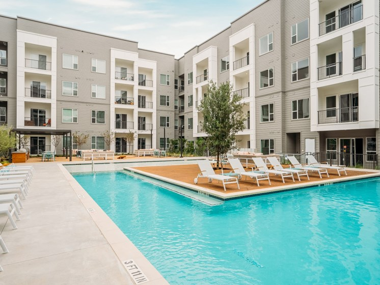 Domain apartments Austin tx pool with cabanas