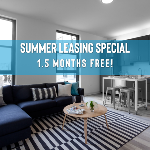 Summer Leasing Special - 1.5 Months Free