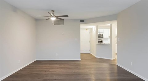 Hardwood-Style Flooring in specific apartments