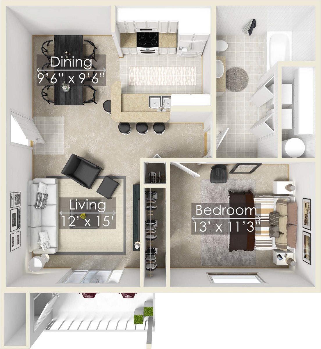 Honeysuckle Floor Plan 1