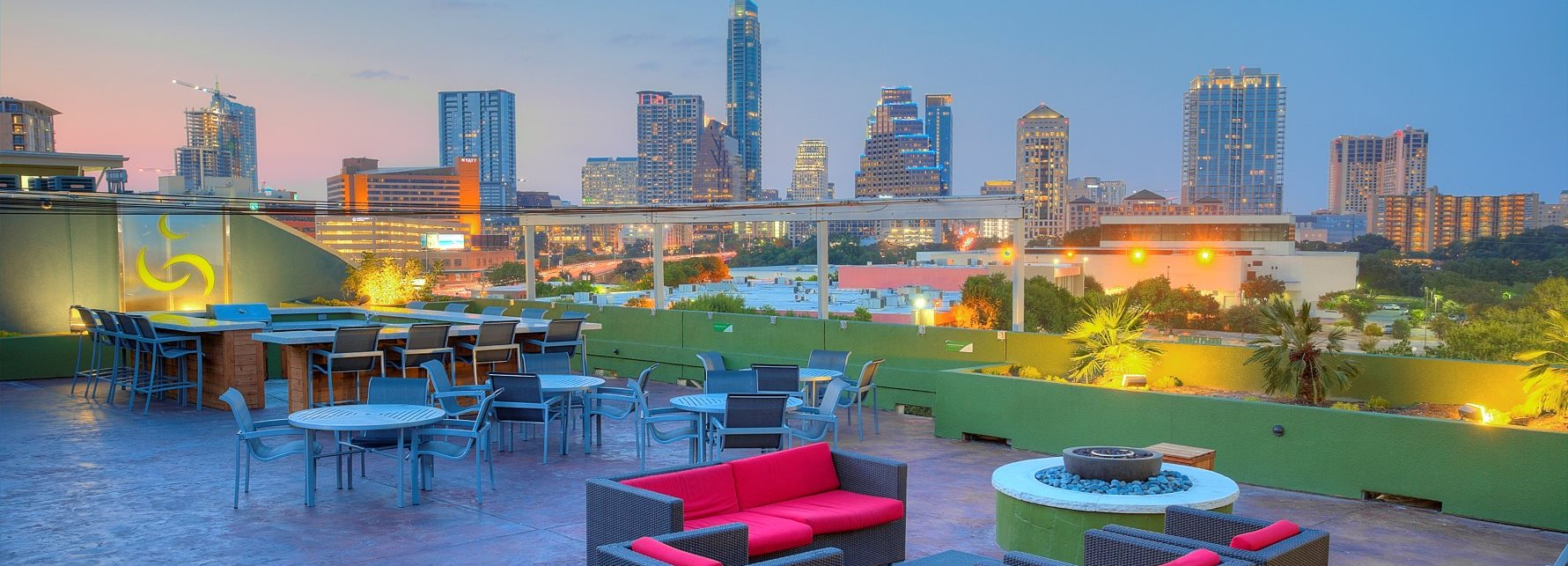 Rooftop Lounge With Panoramic Downtown Austin Views at Crescent, Texas, 78704