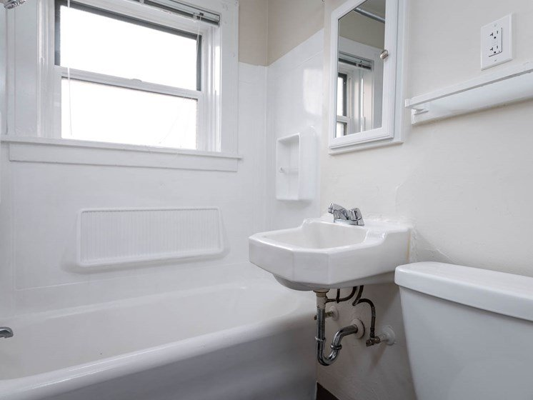 Palladian Apartments | All White Bathroom