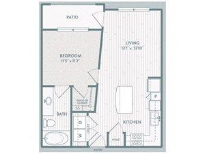 A2 Floor Plan at Century Lake Highlands, Dallas, TX