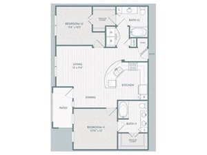 B3 Floor Plan at Century Lake Highlands, Texas