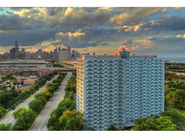 Beautiful view at Prairie Shores, Chicago Illinois