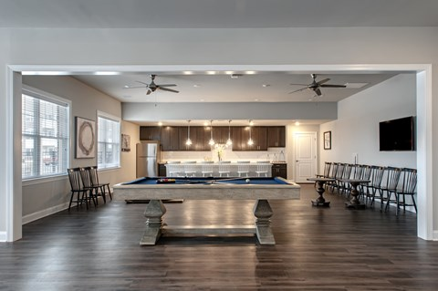 Clubhouse with billiards table