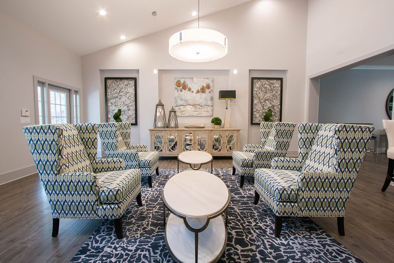Spacious Reception Area at Cumberland Pointe, Smyrna, GA