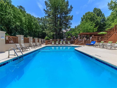 Invigorating Swimming Pool at Edwards Mill Townhomes & Apartments, Raleigh