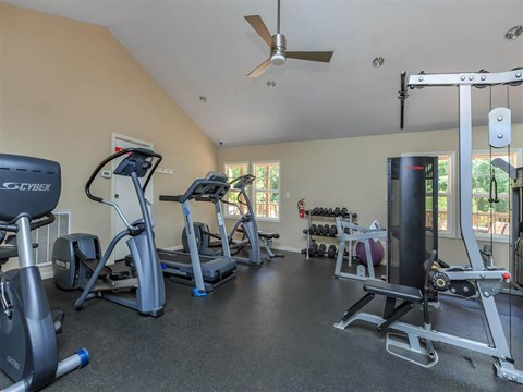 Modern Fitness Center at Edwards Mill Townhomes & Apartments, Raleigh, NC
