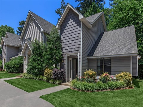 Elegant Exterior View Of Property at Edwards Mill Townhomes & Apartments, Raleigh, NC, 27612