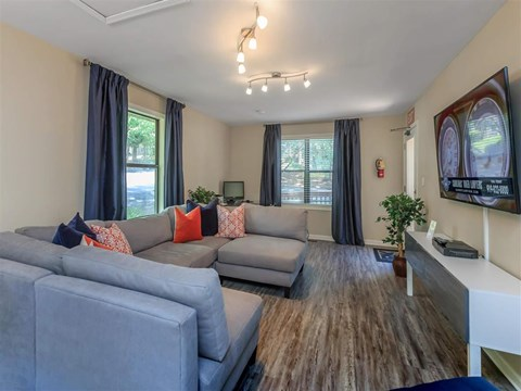 Club-room With Smart TV at Edwards Mill Townhomes & Apartments, Raleigh