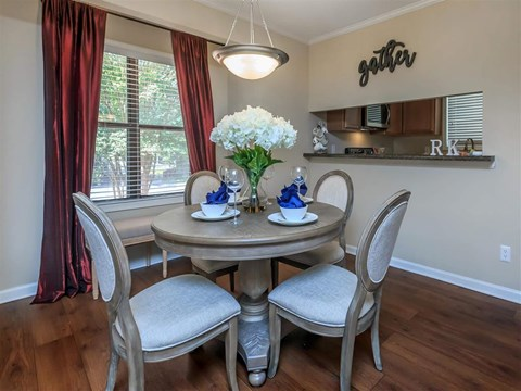 Breakfast Bar-Dining Room at Edwards Mill Townhomes & Apartments, Raleigh, 27612