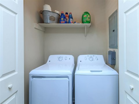 Washer & Dryer In Every Apartment at Edwards Mill Townhomes & Apartments, Raleigh