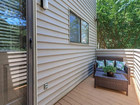 Independent Patio at Edwards Mill Townhomes & Apartments, North Carolina, 27612