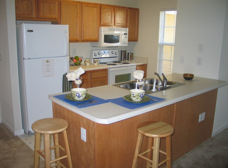 Kitchen with Efficient appliances
