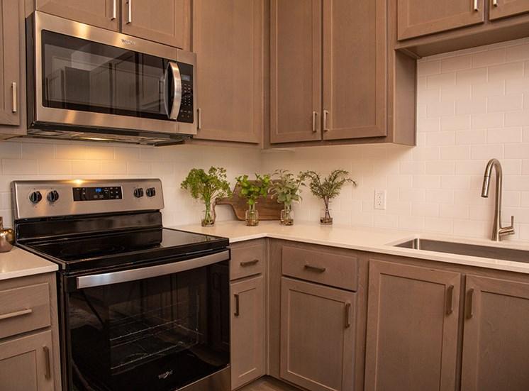 1 bedroom kitchen detail at Alira, CA 95834