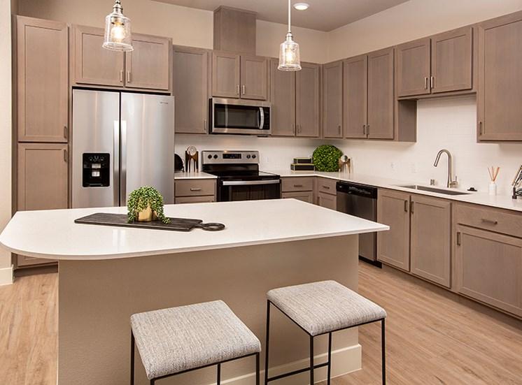 2 bed kitchen at Alira, Sacramento, CA