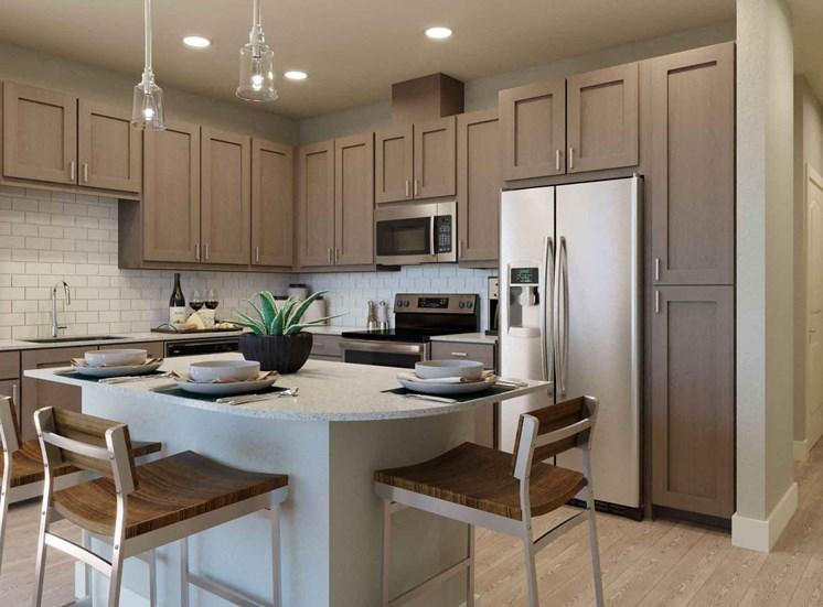 Modern Kitchen With Islands at Alira, California