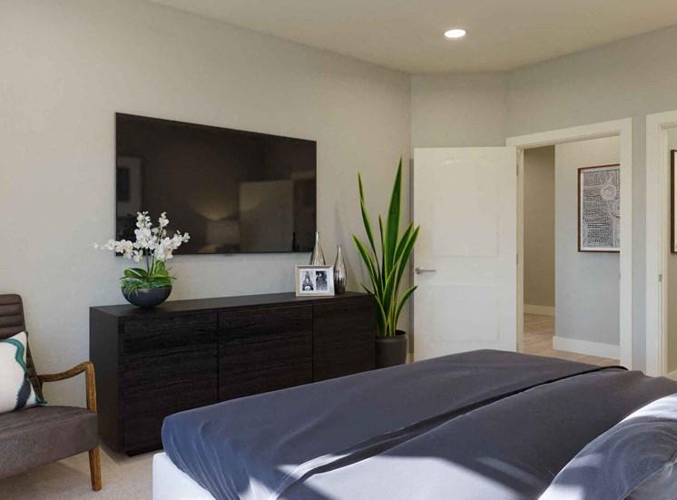 Master Bedroom With Television at Alira, Sacramento, 95834