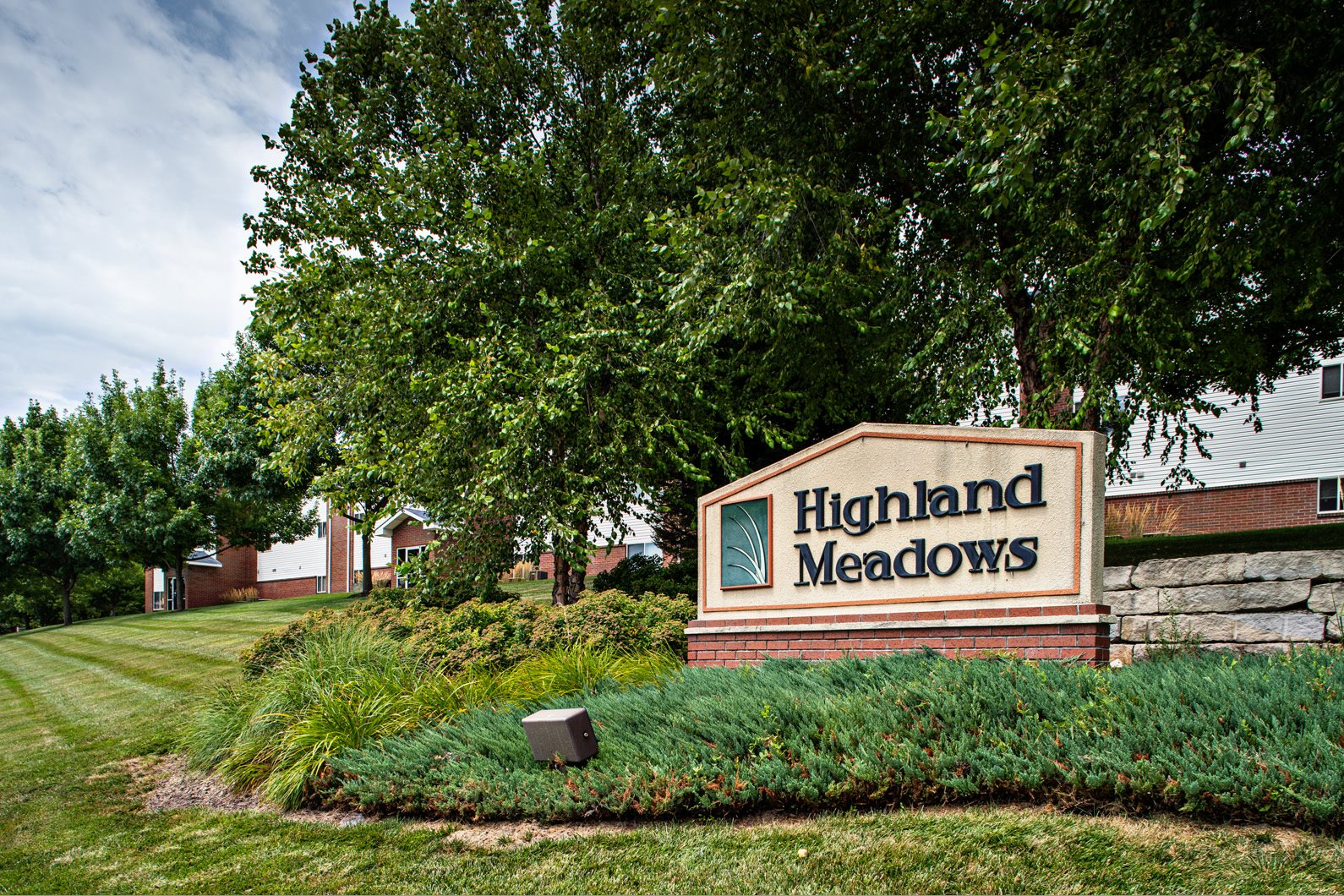 Property Signage at Highland Meadows, Bellevue, NE