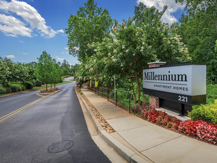 Welcoming Property Sign at Millennium, Greenville, 29607