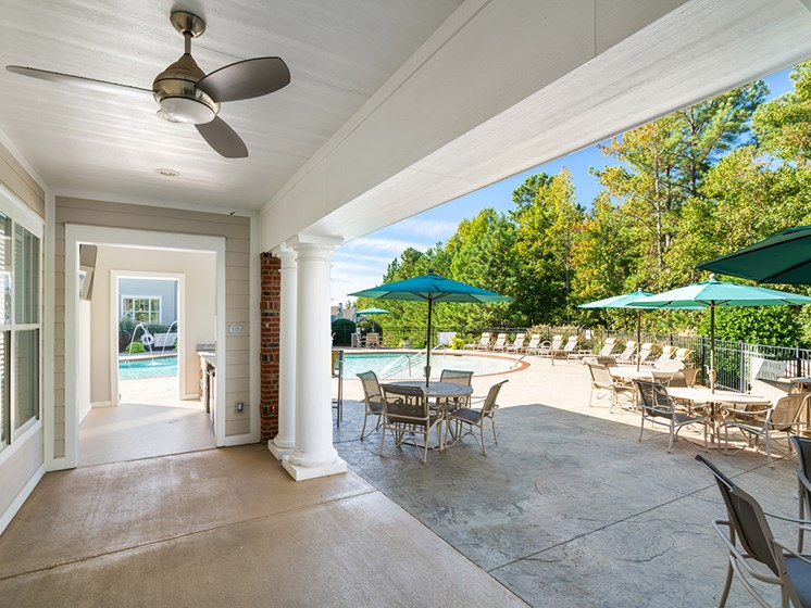 Poolside Sundeck With Relaxing Chairs at Millennium, South Carolina, 29607