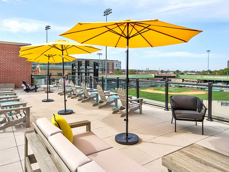 Rooftop Views Area at The Ivy at Berlin Place, South Bend, Indiana