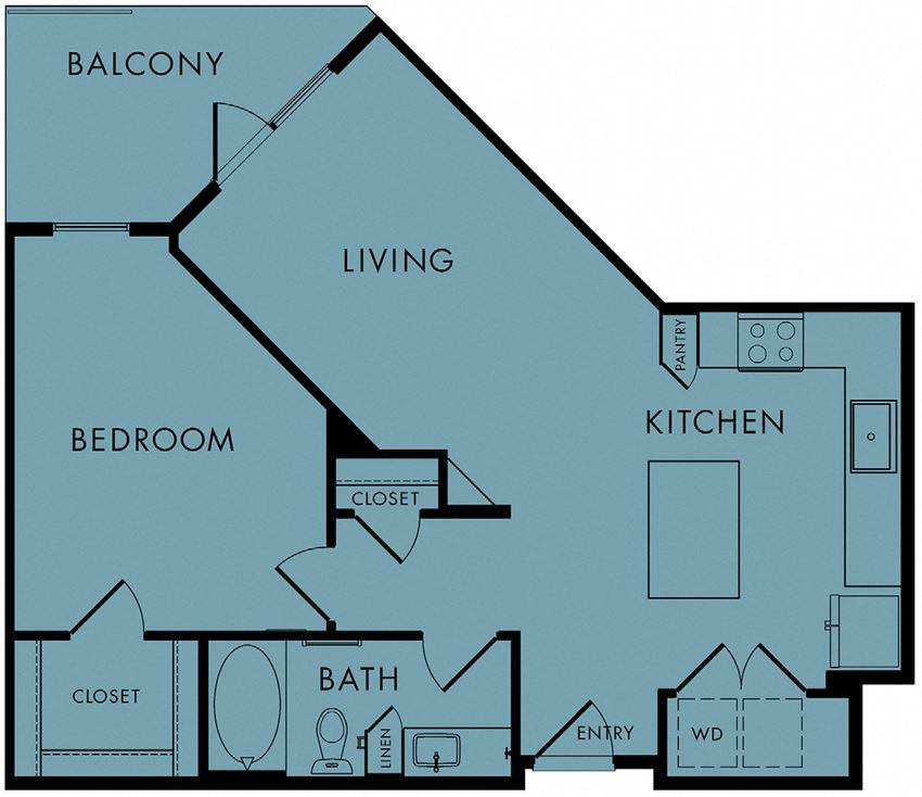 1 bed, 1 bath 778 sq ft