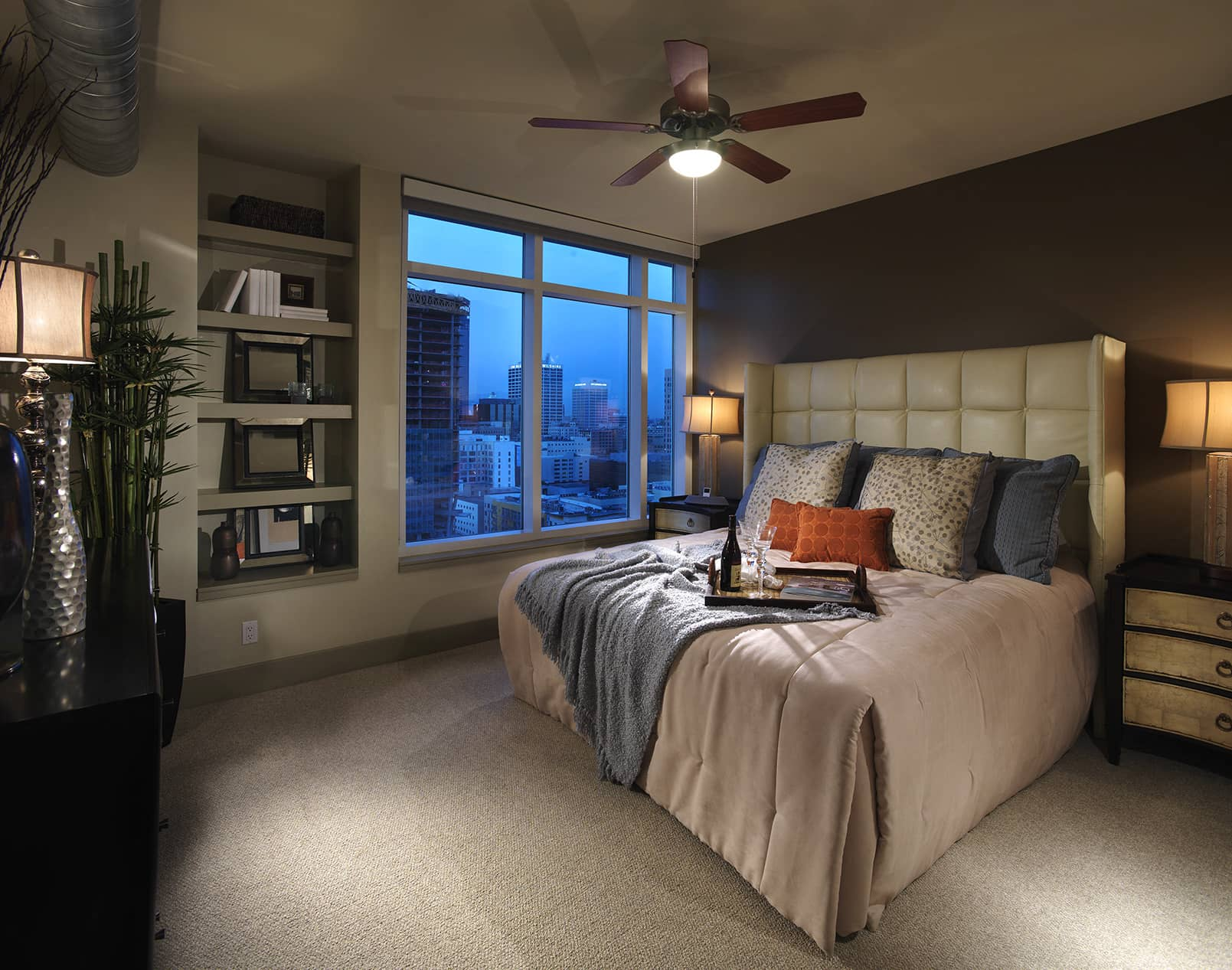 Two bedroom - furnished bedroom