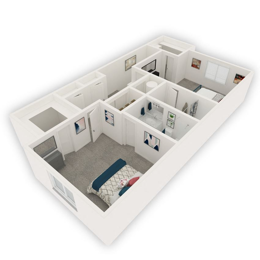2-bedroom floor plan