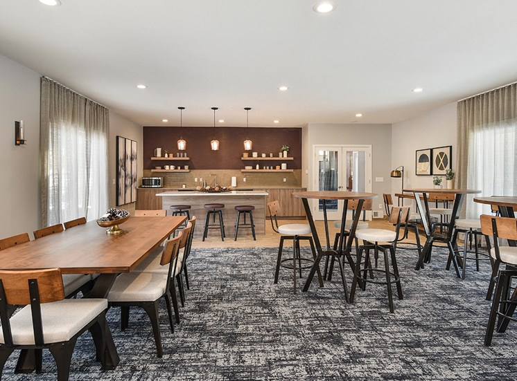 Pines of Burnsville - Clubhouse Seating Area & Kitchen