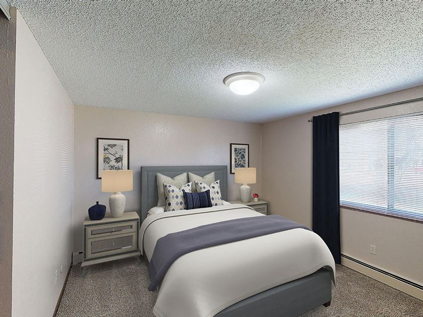 Mountain View Apartments - Bedroom