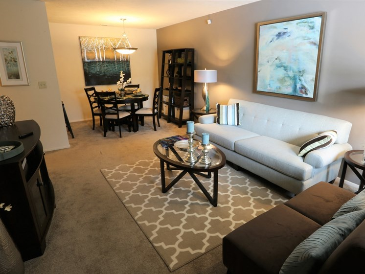 Contemporary Living Room at Willowood Apartments, Eastlake, OH, 44095