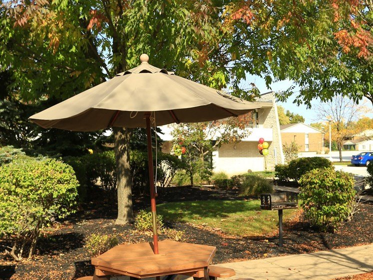 Outdoor Spaces at Ridgewood Park Apartments, Parma Heights, Ohio