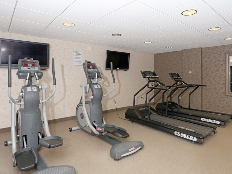 Fitness Center With Updated Equipment at Ridgewood Park Apartments, Parma Heights, OH, 44130