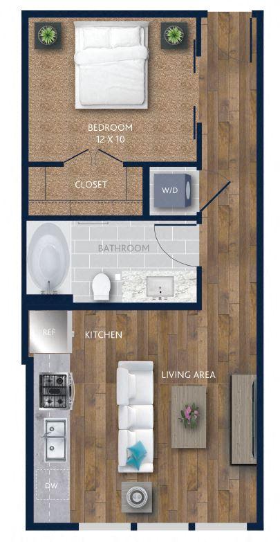 Alexan CityCentre 1 bed, 1 bath apartment