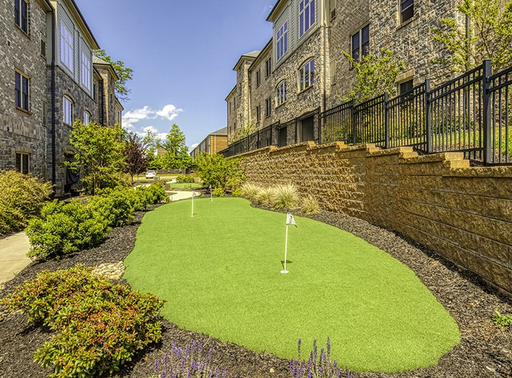 Putting Green at The Gardens on Timberlake