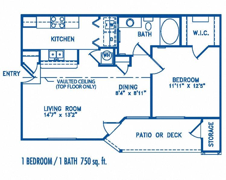 1 bedroom Floor Plan 4