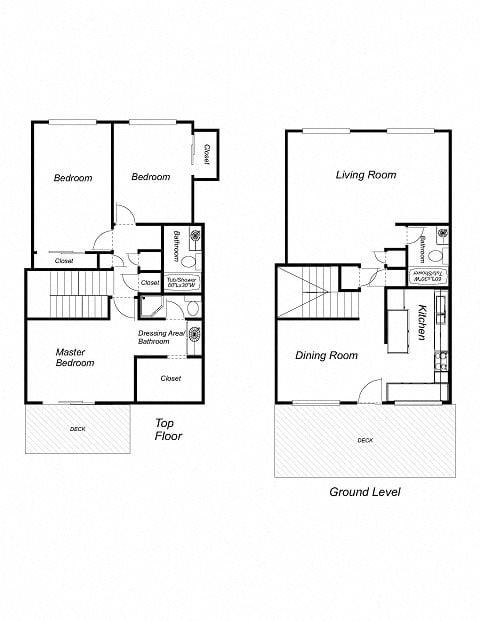 3-Bedrooms, 3-Bathrooms Floor Plan 4