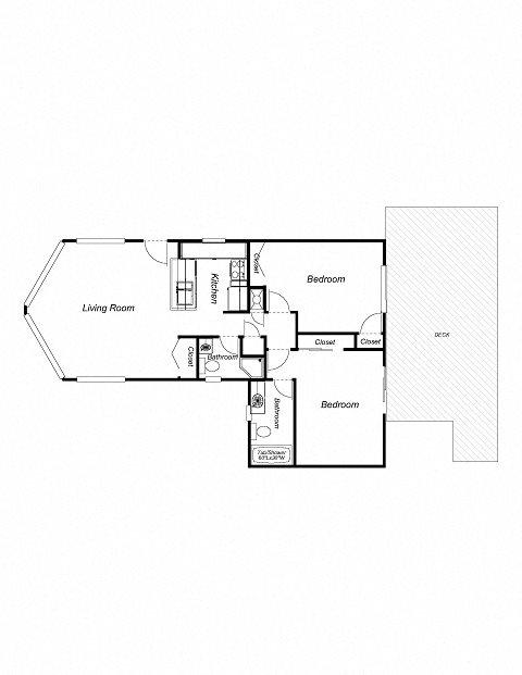 2-Bathrooms, 2-Bathrooms Floor Plan 3