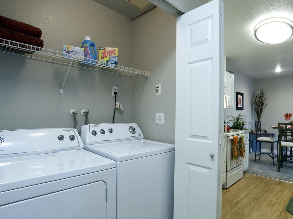 The Signature Apartments Laundry Closet