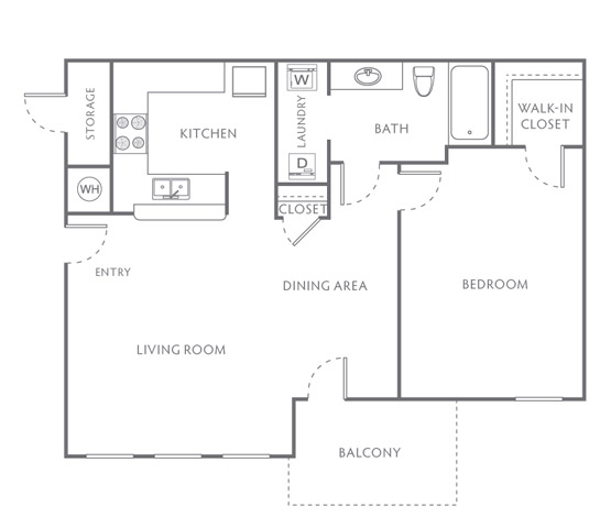 Floor Plans Of Villas At Bailey Ranch Apartments In Owasso, OK