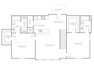 TWO BEDROOM TWO BATH 1110