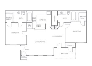 TWO BEDROOM TWO BATH 925