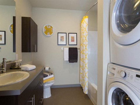 Seattle Apartments - Canvas Apartments - Bathroom and Laundry