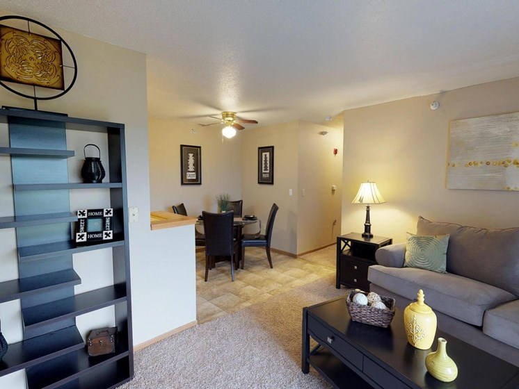 Open floor plan layout at The Arbors Apartments in South Sioux City, Nebraska