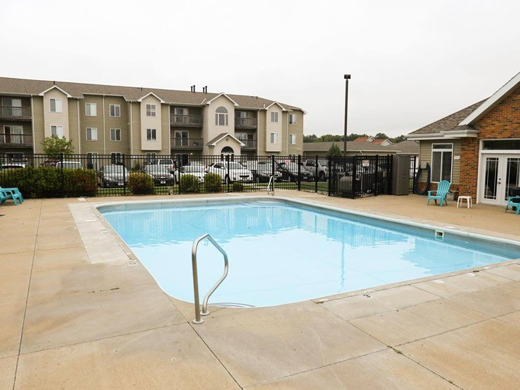 Swimming pool at The Arbors Apartments in South Sioux City, Nebraska