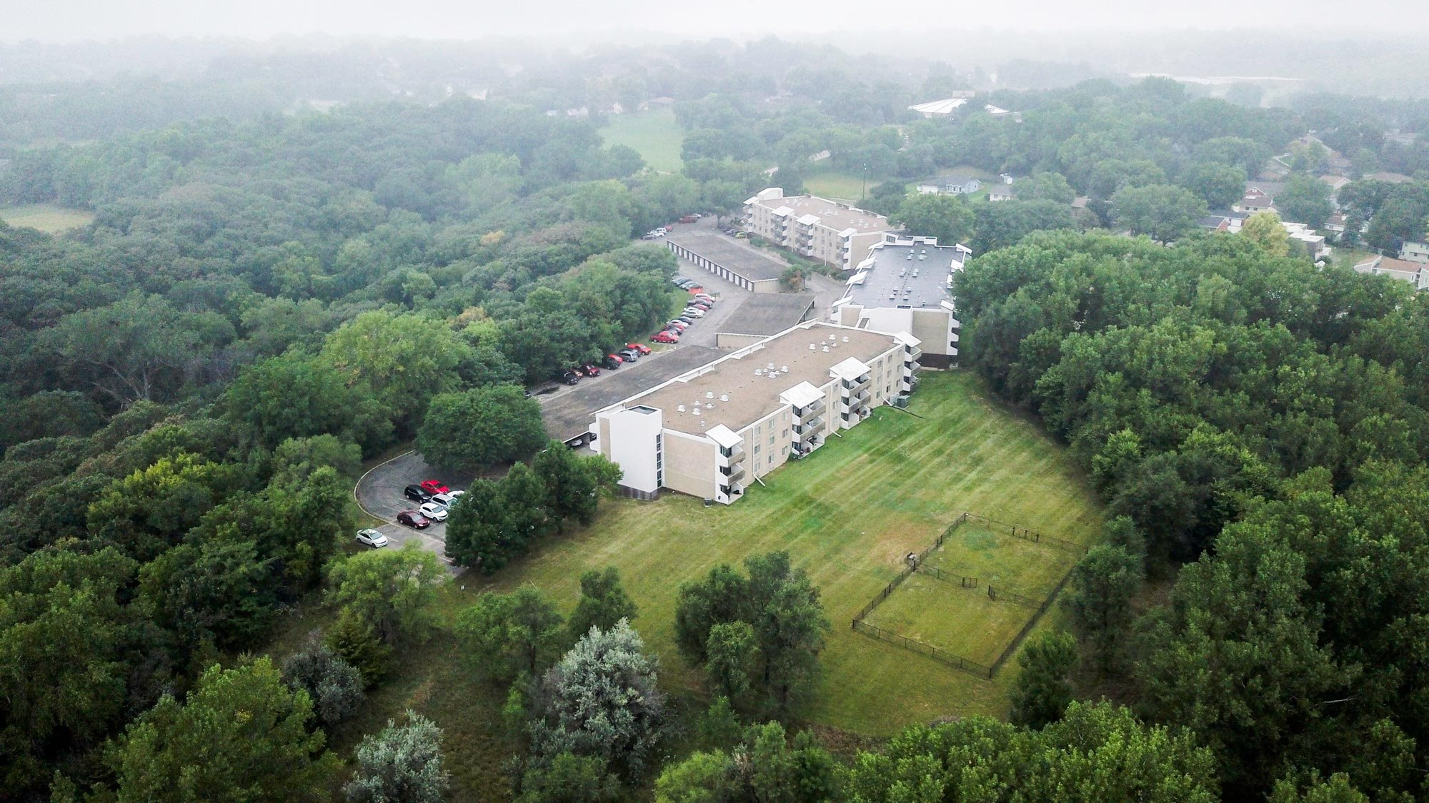 Arial view at Ridge Oaks Apartments in North Sioux City, Iowa
