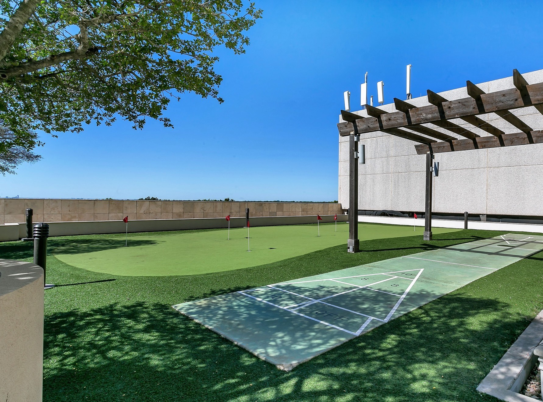 Outdoor Game Area with Golf